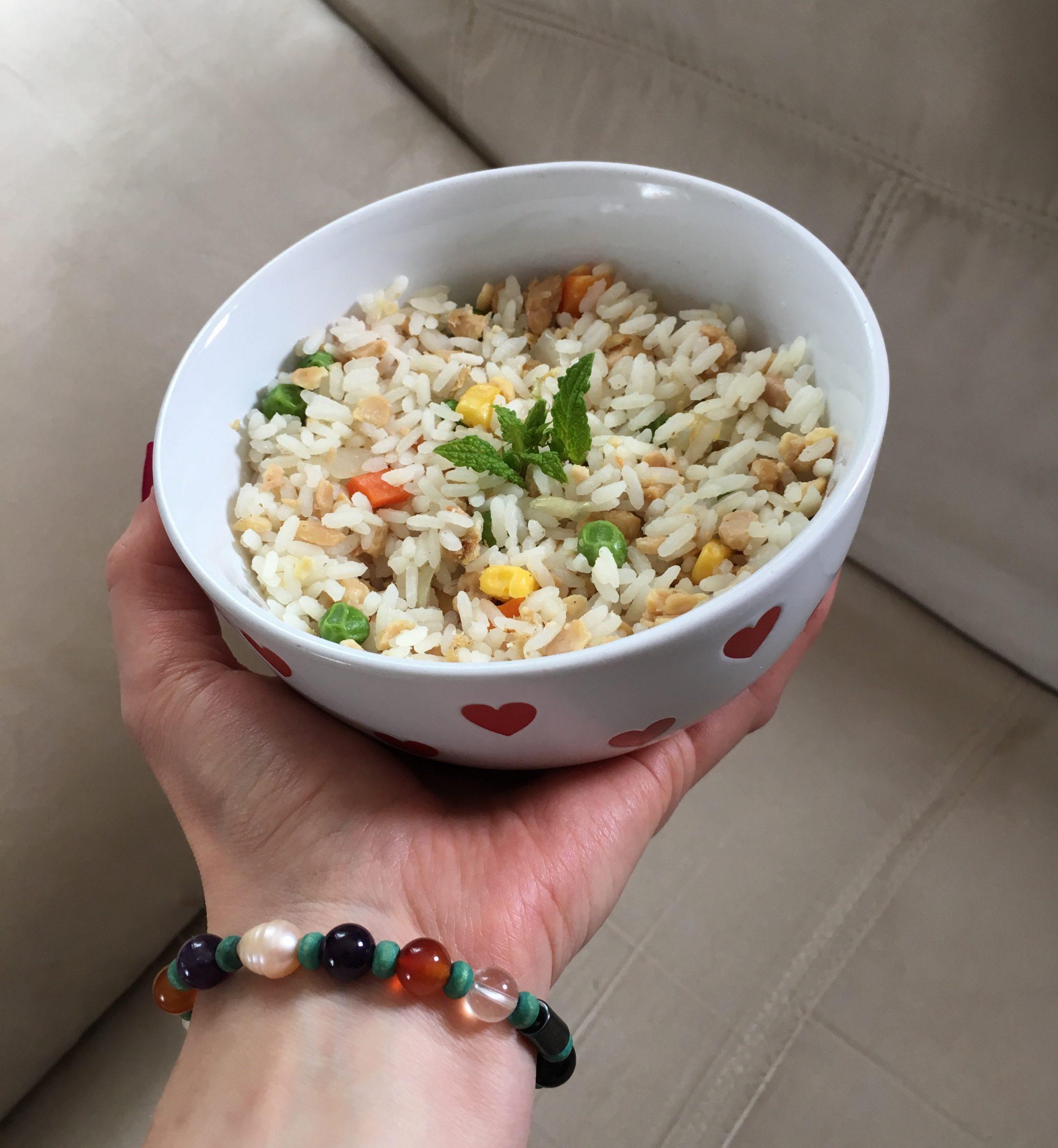 rýže, tempeh, recepty, veganské